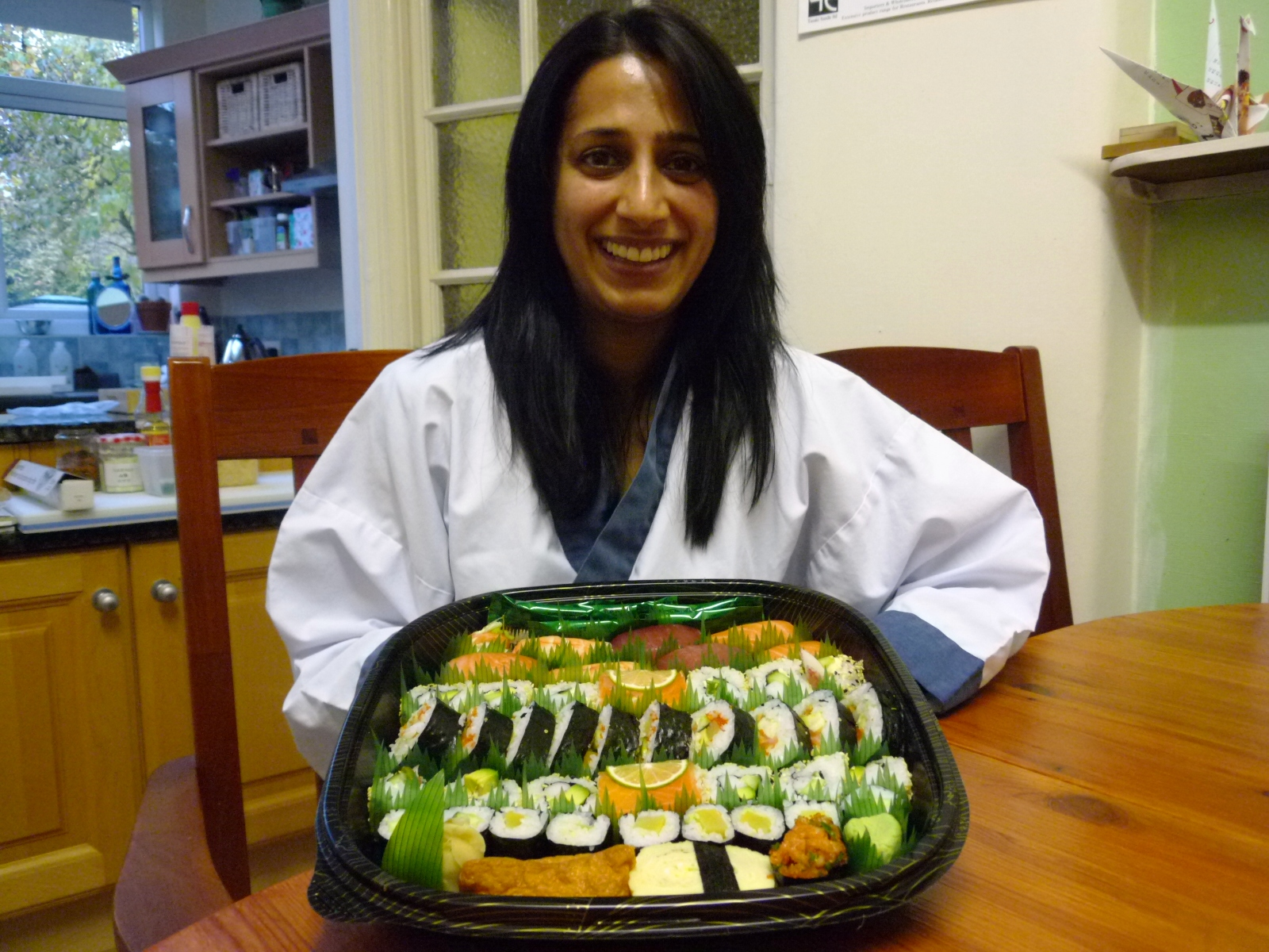 """""""Thank you so much for hosting the sushi course at your home- it was a  nice environment & class size (there were only 2 of us!) & it  was a very relaxing & theraputic way to spend the afternoon.We had  invited a couple of friends around for dinner that evening & they  were most impressed with my efforts in preparing a meal of sushi.The  tips you gave us were most interesting which i will certainly remember  when I next prepare a sushi dinner. Thanks again"""""""