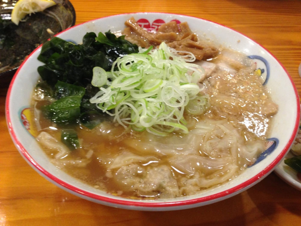 """This is Wonton Ramen from Sendai City, in Miyagi prefecture. The restaurant that serves this is quite famous, and is called """"Gofukuboshi"""" (五福星). The noodles are handmade and are quite delicious."""