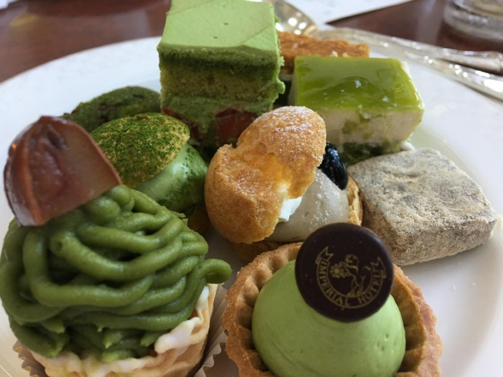 A plateful of matcha treats!