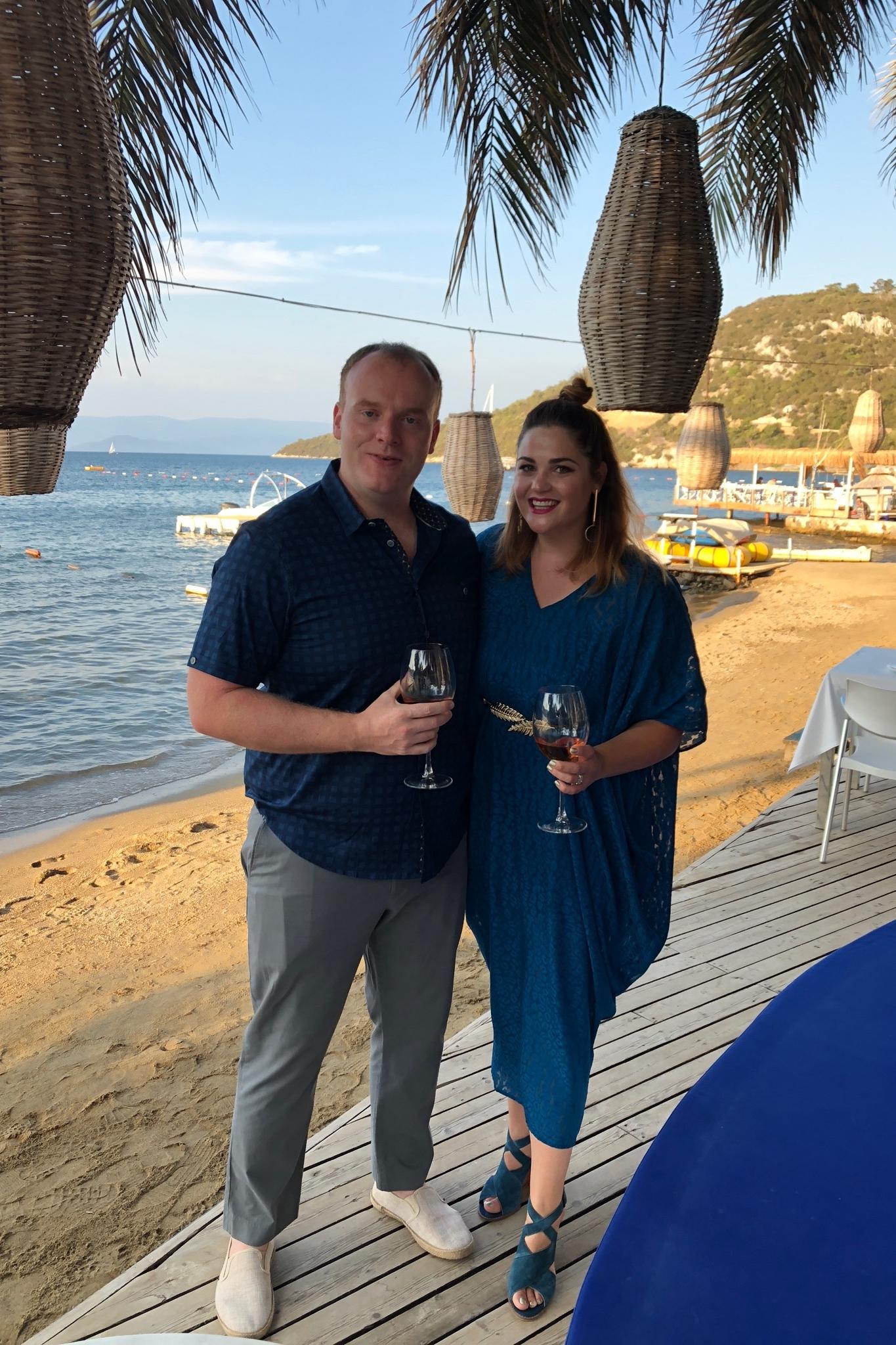 - Kaftan for San Francisco skincare expert Corrinne Russell for a beachside wedding in TurkeyDesigner: Charlotte WelchStylist: Charlotte Welch