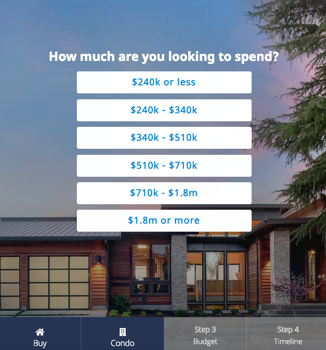 Homelight's Questionnaire-Based Approach