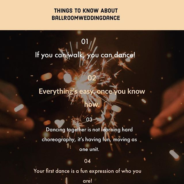 5 things to know about Ballroom Wedding Dance