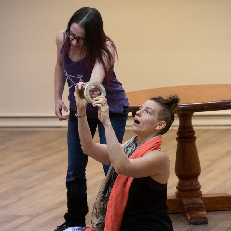 Clowning Workshop with Mooky.  Photo credit: Chris Deacon