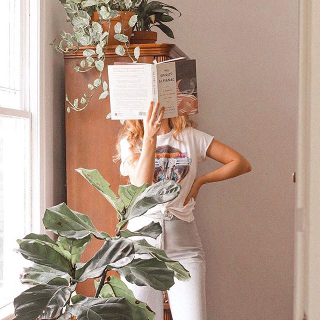 good times checklist:  plants ✔️ spirit almanac ✔️ yep, that about covers it. 📷 @maggiedox