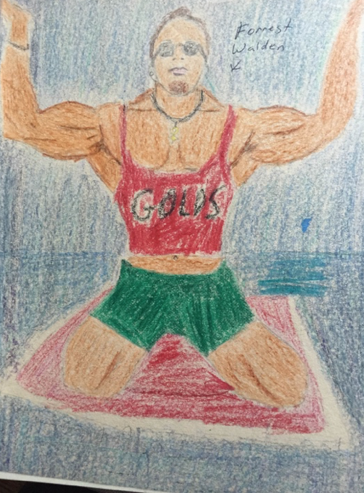 I daydreamed and doodled about bodybuilding in high school