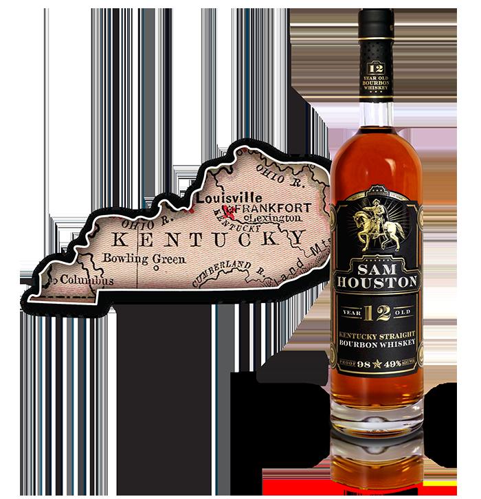 Sam Houston 12 Yr Old Bourbon Whiskey - KY