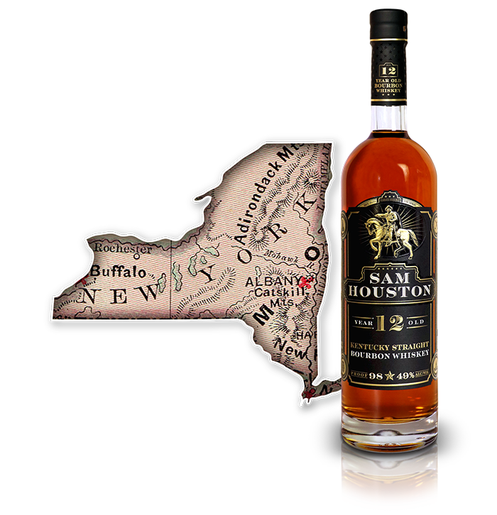 Sam Houston 12 Yr Old Bourbon Whiskey - NY