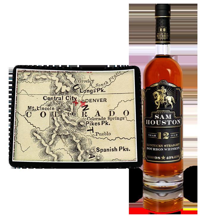 Sam Houston 12 Yr Old Bourbon Whiskey - CO
