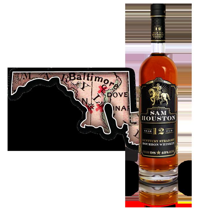Sam Houston 12 Yr Old Bourbon Whiskey - MD