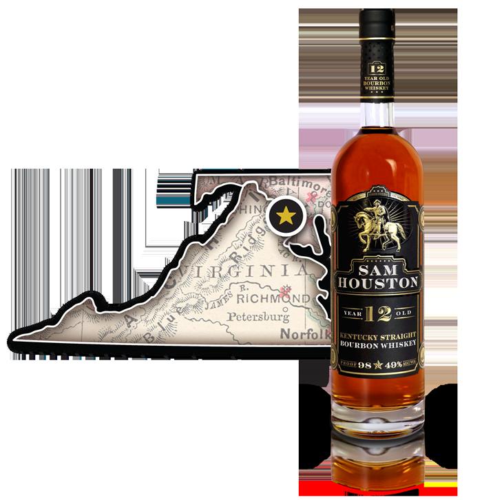 Sam Houston 12 Yr Old Bourbon Whiskey - DC