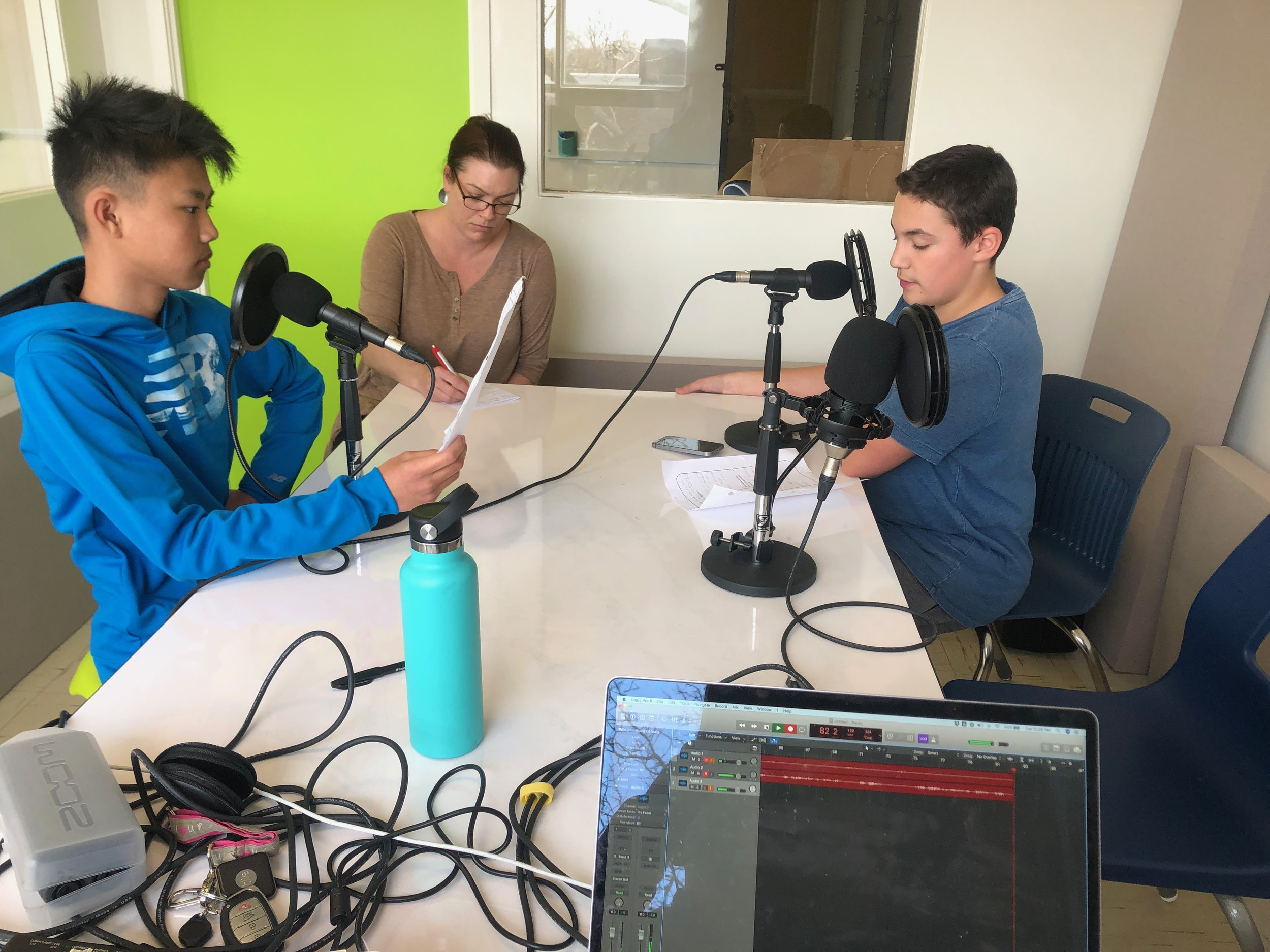 Students Podcasting in the SHIFT space