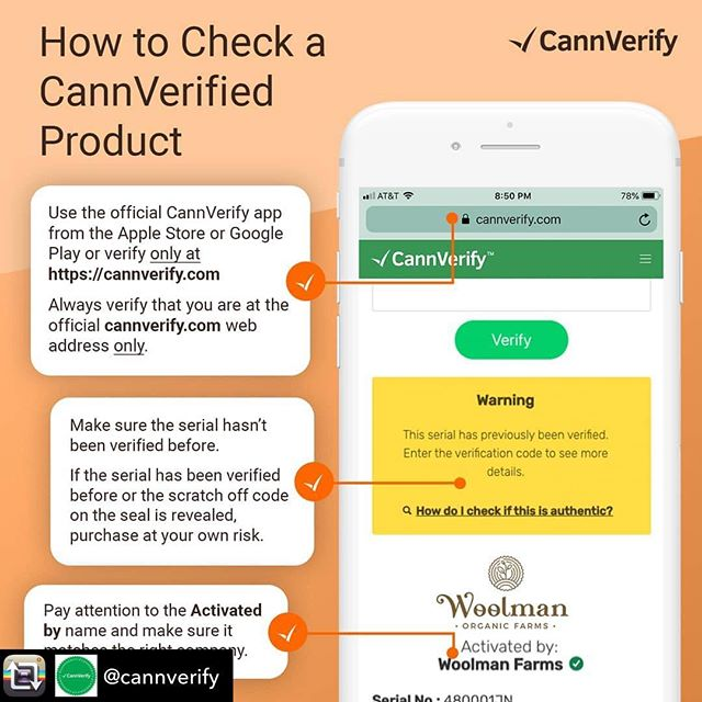 It looks like @echo_electuary products have gone live! When verifying a product CannVerify, make sure to look for these important things.  1) Use the official CannVerify app on the Apple or Google Play store or verify only at cannverify.com  2) Make sure the product serial number has not been verified before  3) Pay attention to who it was activated by and make sure it matches the right company #lemonremedycbd  #cannverify #brandauthentication #verified #cannabis #marijuana #cannabisindustry #cannabisconmunity #cannabisproducts #cannverfied #cannverifyapp