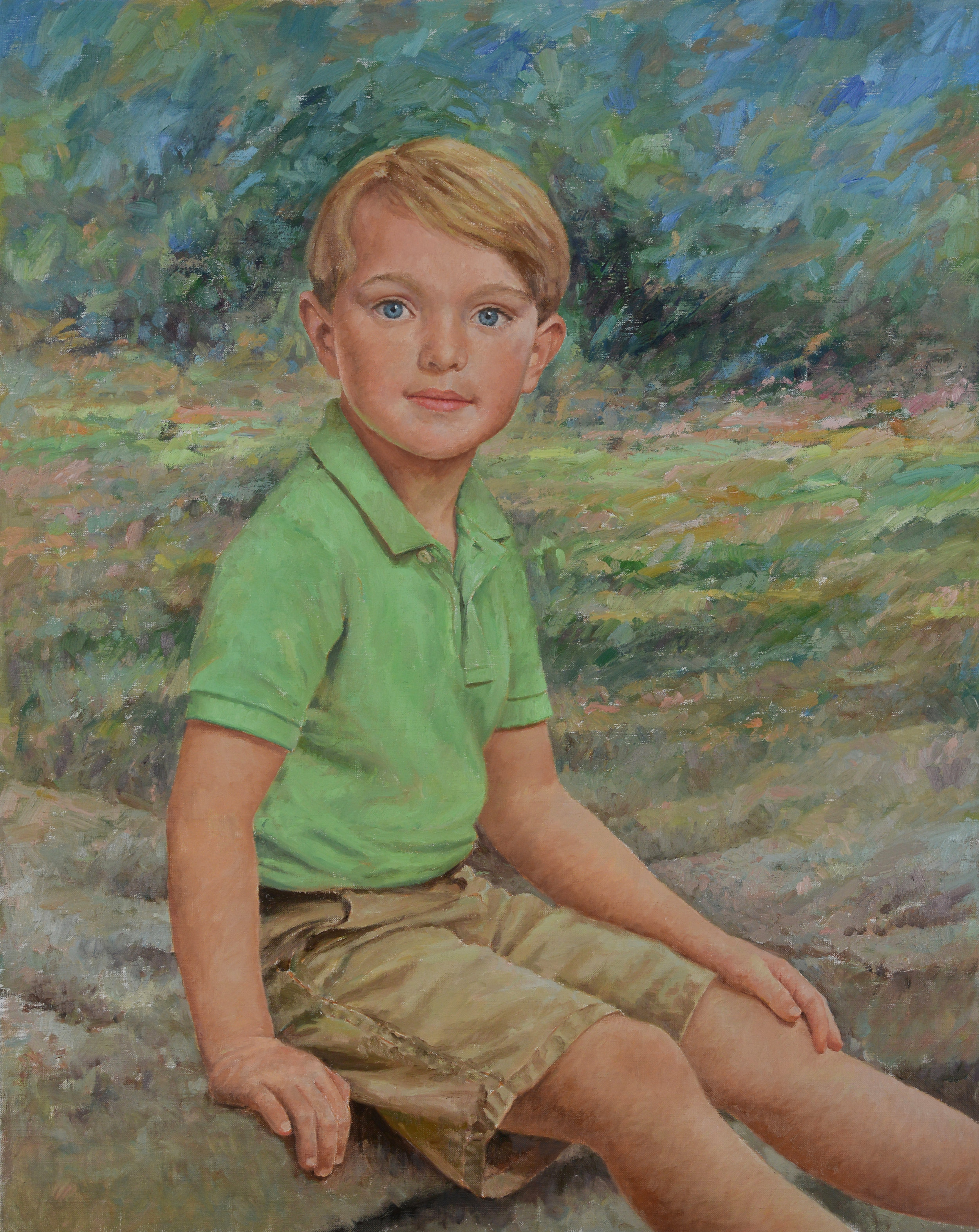 Boy with Green Shirt - 30x24