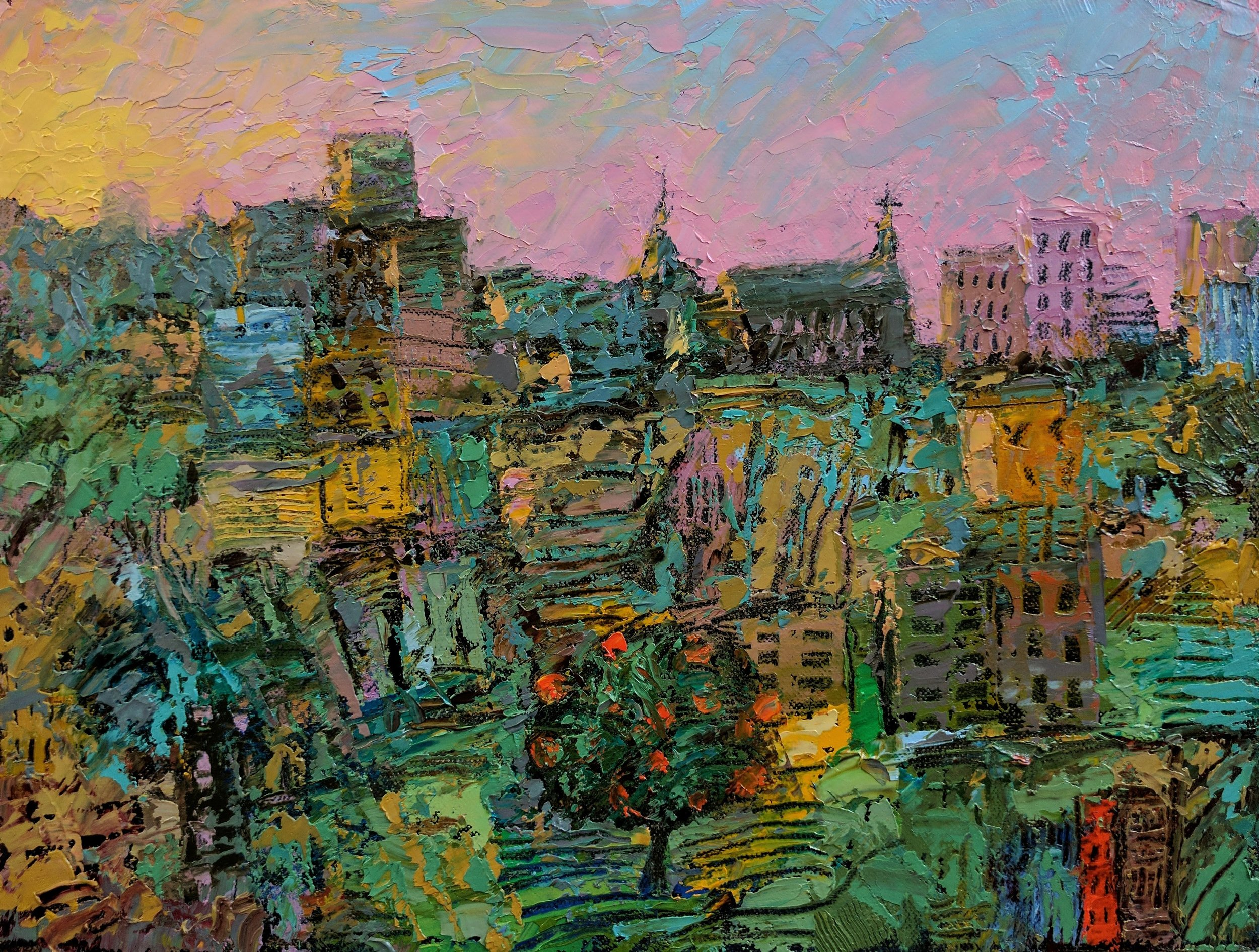 """""""Our City"""" 9x12"""