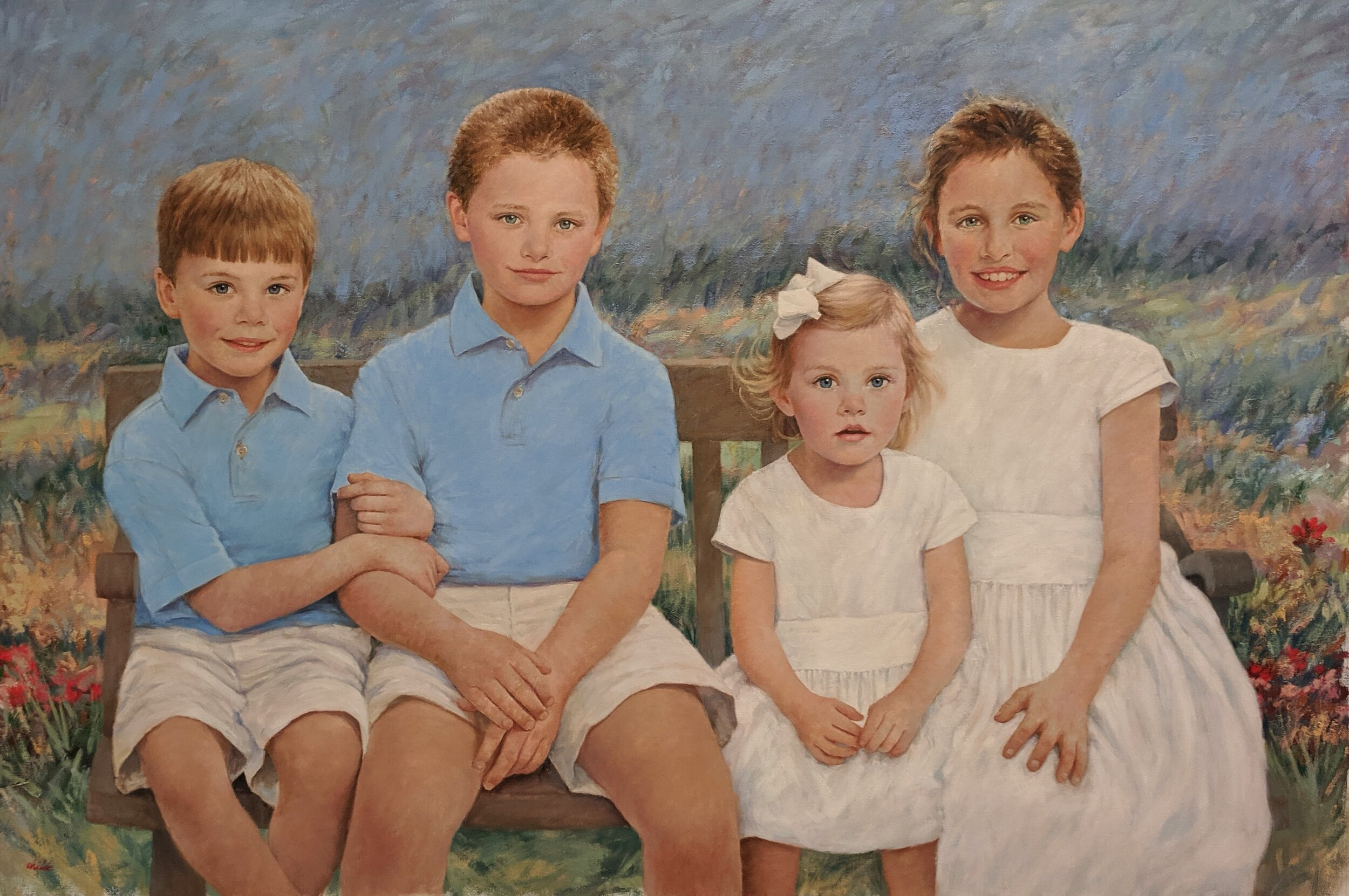 Four Children Together - 54 x 36