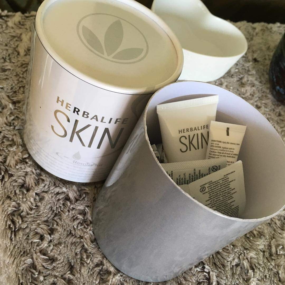 Herbalife 7-day skincare kit, used for holistic facials in Whitchurch