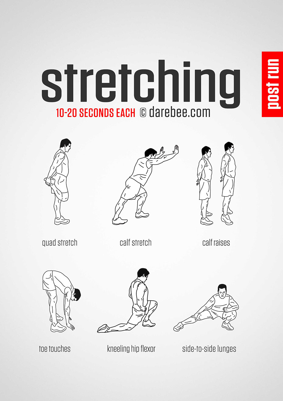 Stretches for runners in Whitchurch Shropshire