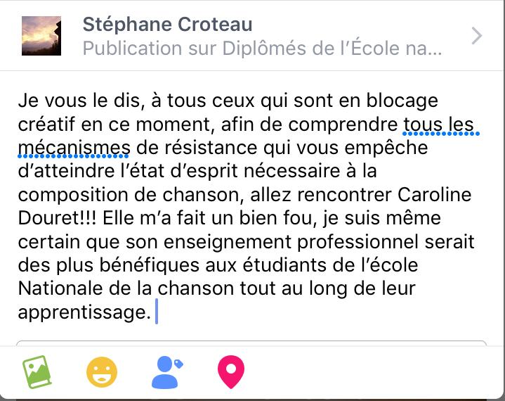/ Stéphane Croteau, auteur-compositeur-interprète, finaliste de l'École nationale de la chanson de Granby /