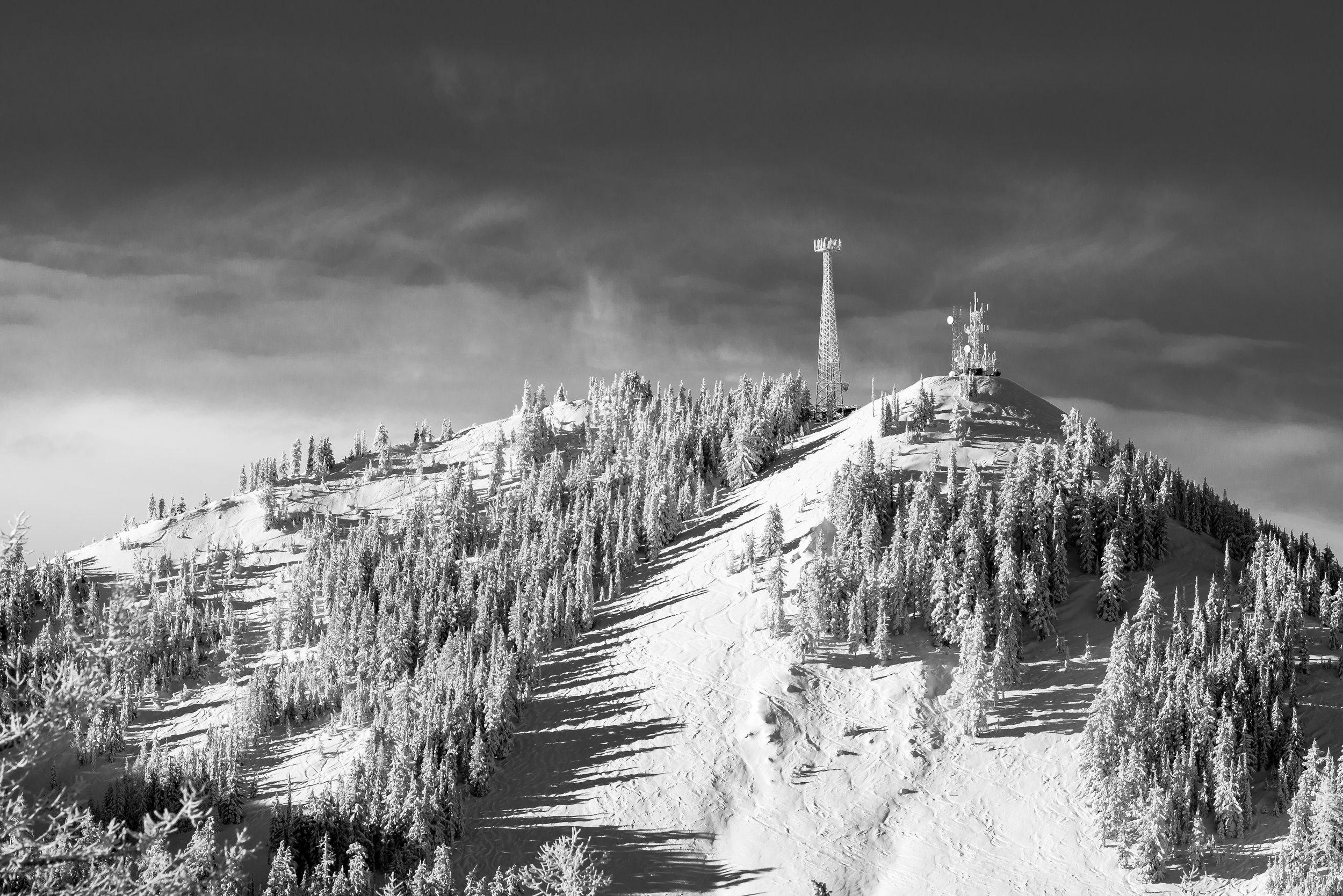 Wardner Peak, Silver Mountain Ski Resort.