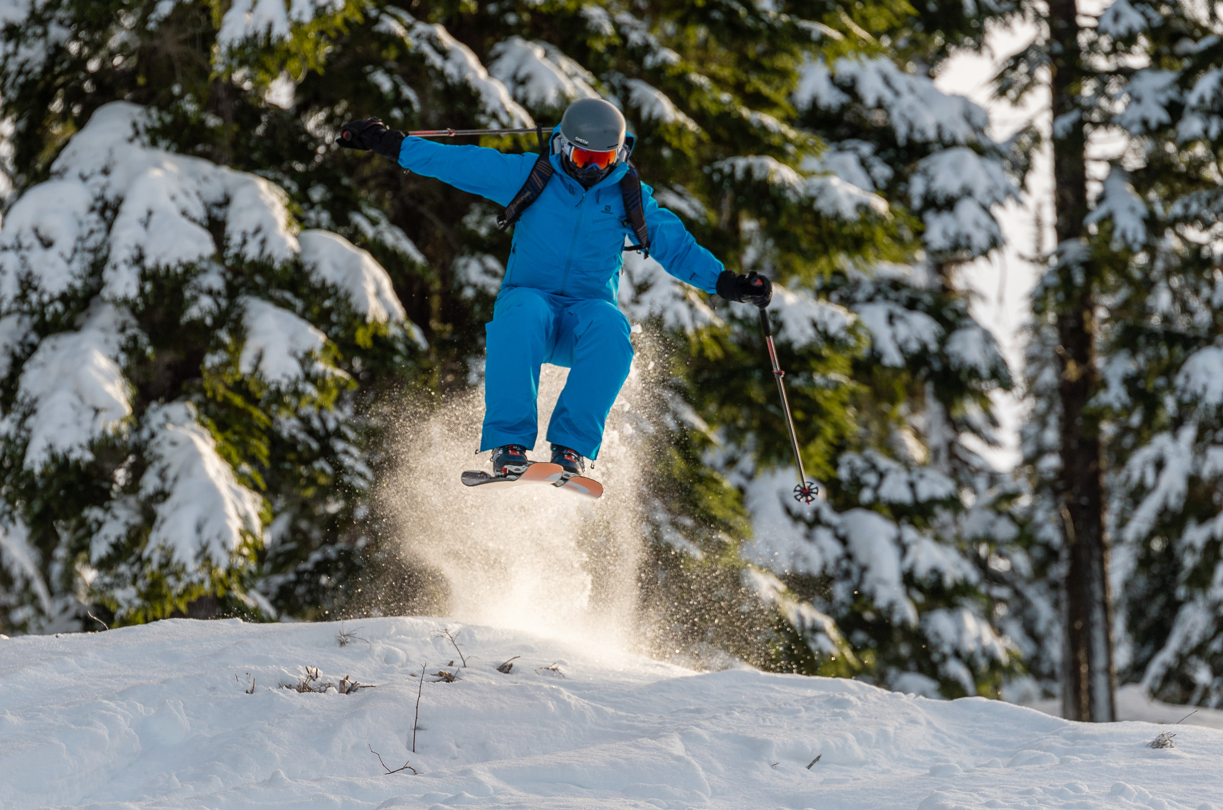 When the snow is the best the sends are much more reserved.  Chair 4, Silver Mountain. Skier: Casey Winchel.
