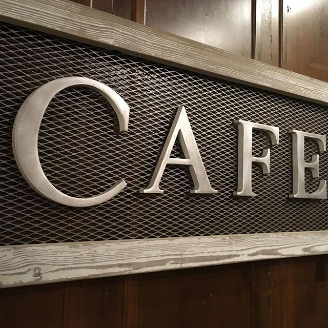 All salvaged cafe sign