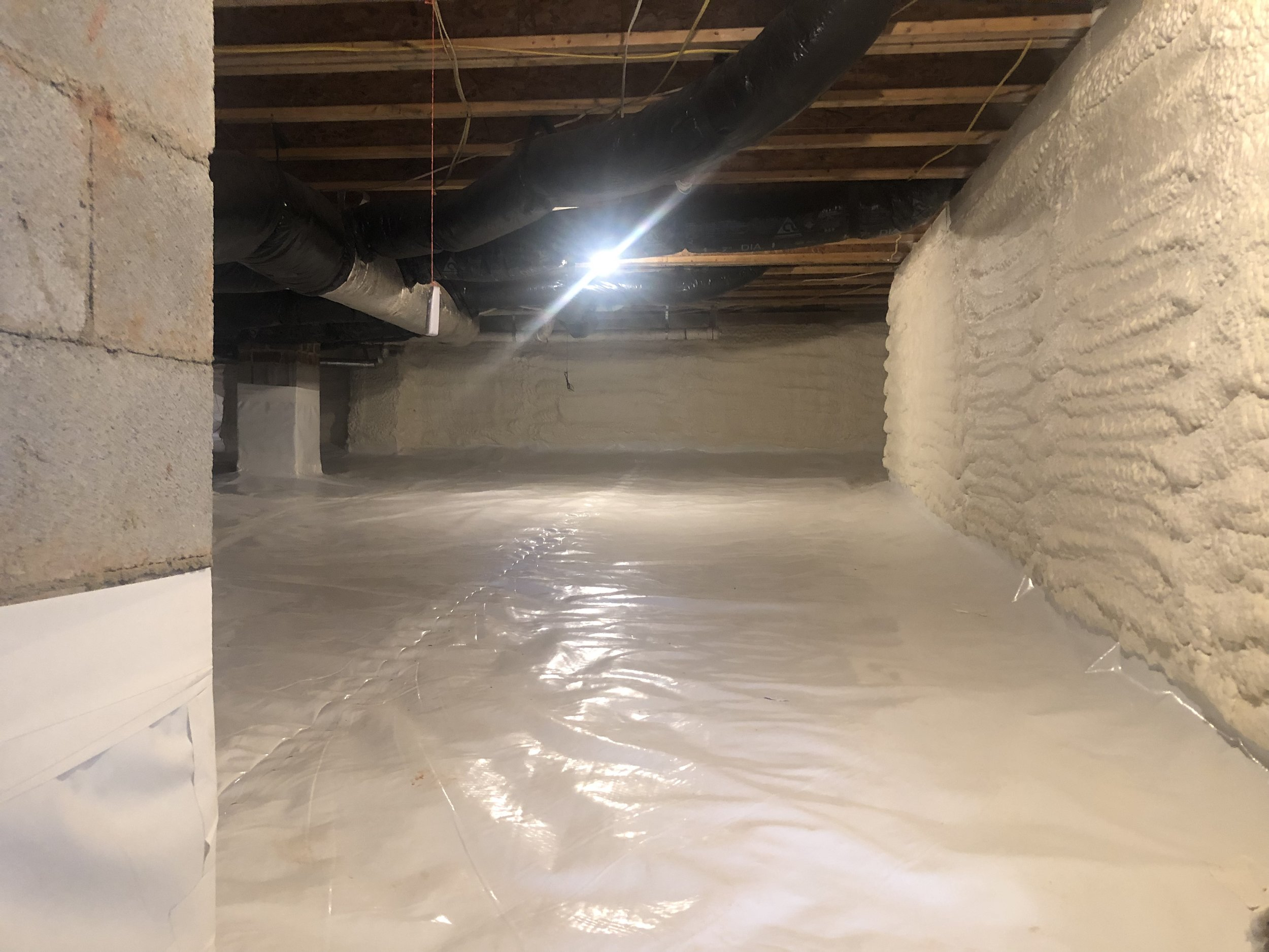 Triangle Radiant Barrier - Crawlspace Spray Foam 01.jpg