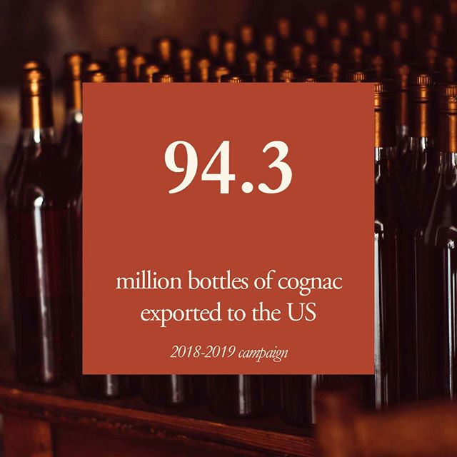 Cognac exports set a new record for the number of bottles shipped during one campaign year (reaching 211.1 million bottles!) The US leads this dynamic growth accounting for 94.3 million bottles! 💯💯💯 📸: Benoit Linero . . . . @cognac_official #cognac_official #cognac #cognacUSA #CraftSpirits #Craft #Spirits #Drink #Imbibe #cognacstyle #cognaclife #cognacLover #ExperienceCognac #VisitCognac #hercognac #CognacFrance #CognacCocktails #numberone #exports #shipments #1