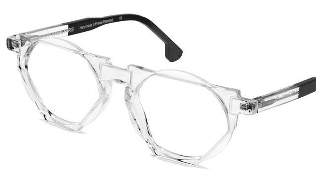 HERVÉ Handmade acetate frames in a directional contemporary style. Colour:  Crystal Designer: Dzmitry Samal, Paris www.eyemasters.co.uk  #Specs #Spectacles #Frames #Glasses #Eyeware #Fashion #Instafashion #Hastings #Bexhill #Rye  #Battle #tunbridgewells