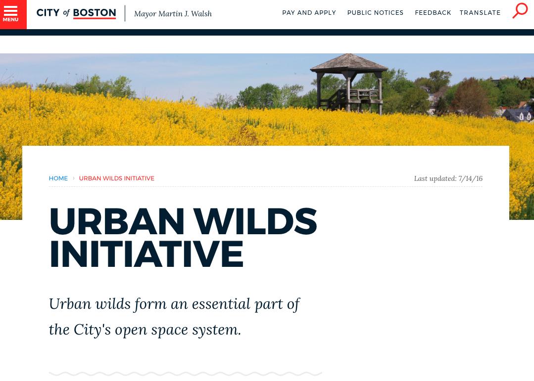 Boston Urban Wilds Intitative