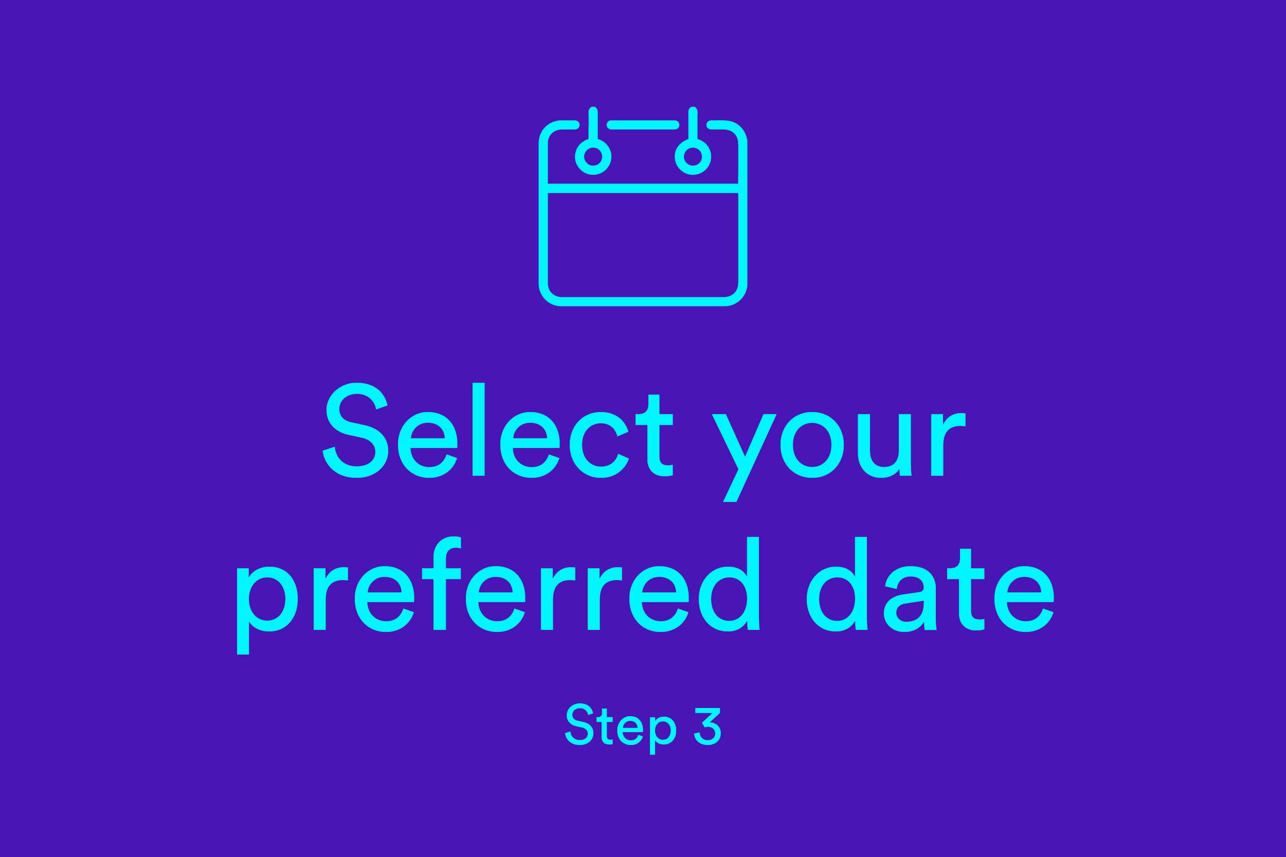 Select your preferred date (Step 3)