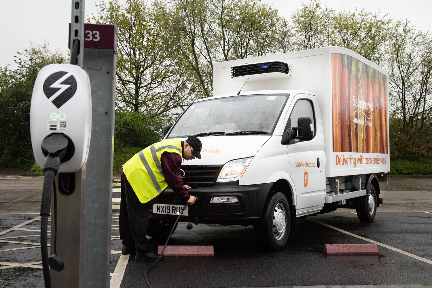 EO Charging powers Sainsbury's first electric van