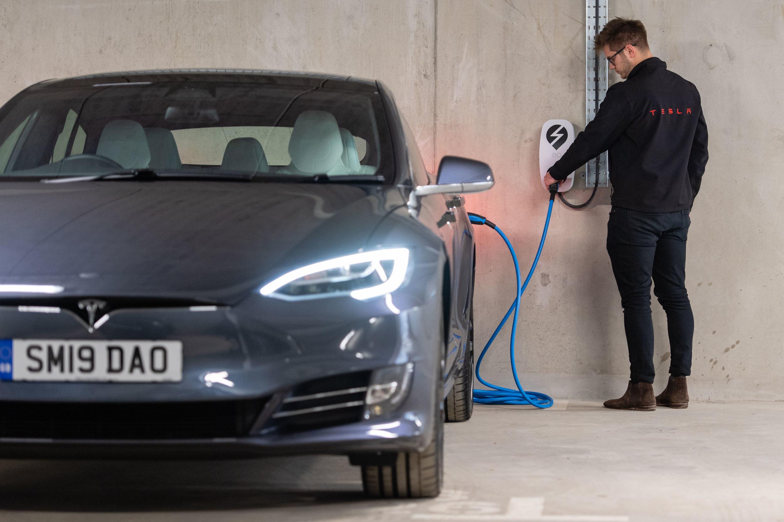EO Genius with Tesla Model S