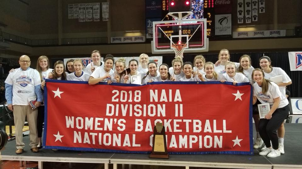 Jill Ricke, SFLS class of 2012, served as a student coach with the Dakota Wesleyan University women's basketball team during the 2017-2018 season. She helped the Tigers secure their first ever NAIA Division II Women's Basketball National Championship.