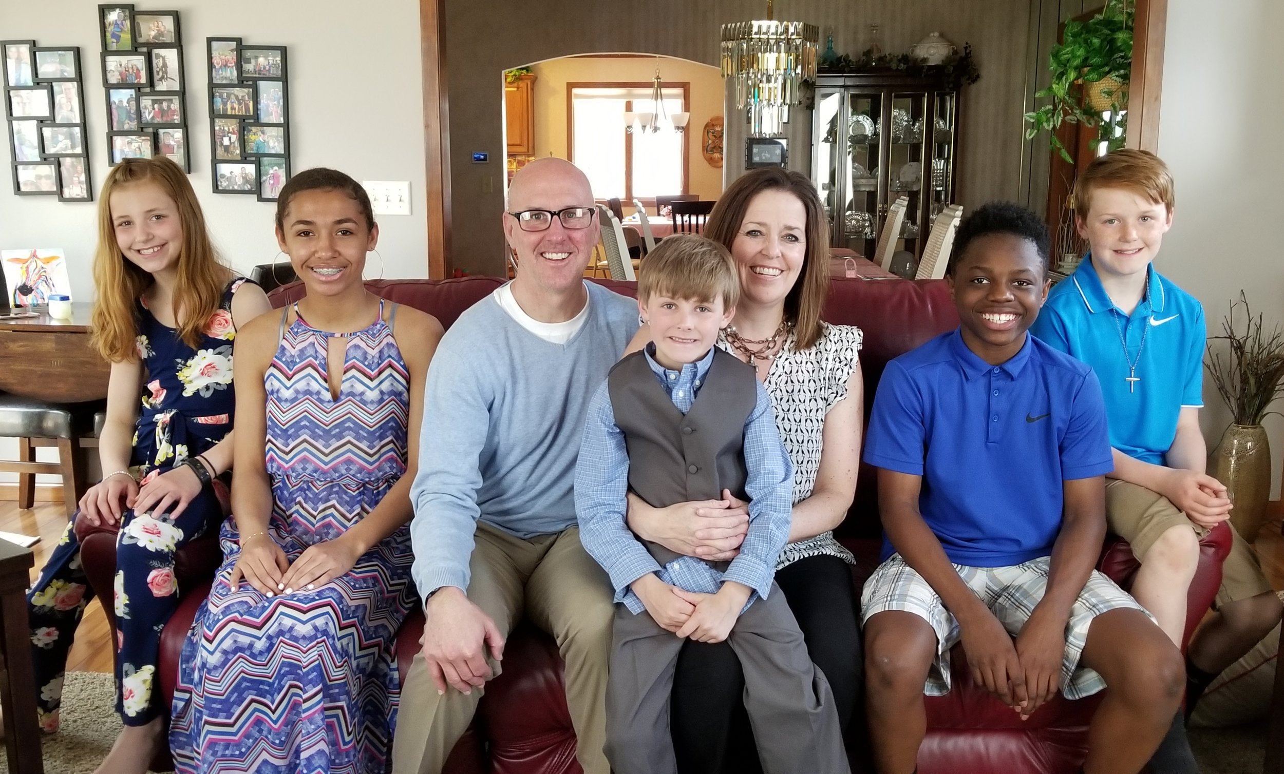 Mrs. Louisa Biteler, pictured with her family above, will serve as the K-8 Suzuki violin instructor and orchestra director at Sioux Falls Lutheran School beginning in the fall of 2019.