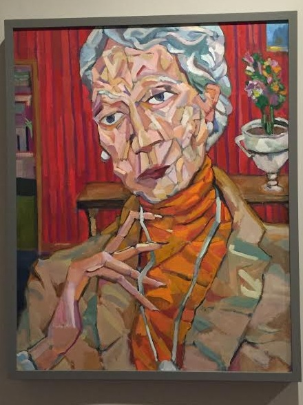 An Old Woman - This woman doesn't exist, nor does her red walled enviorment. This painting was created as a companion piece to an Old Man painting I had done.She feels familiar with a far off searching gaze, she's quite lovely, and I love the impossible nature of her fingers.$3000