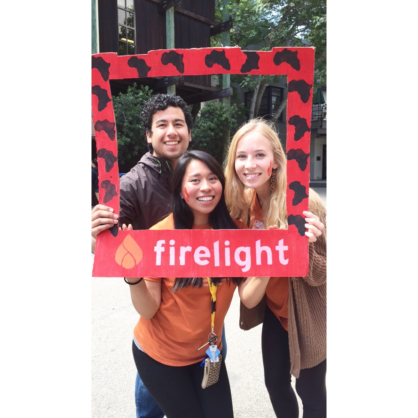 Student fundraisers (from left to right): Jose Contreras, Karen Cortez, & Kathryn Kemper