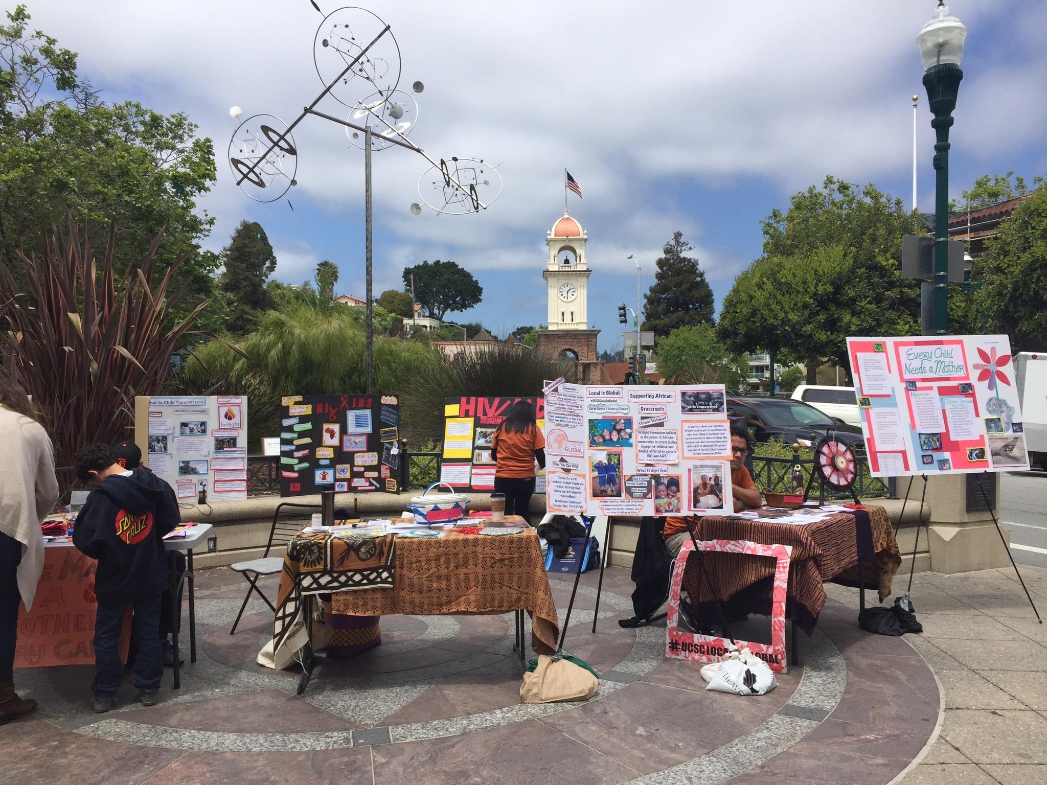 Our set-up downtown Santa Cruz, Saturday May 9