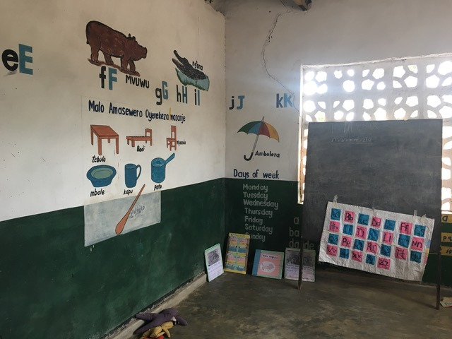 Classroom in a Malawian early childhood development center