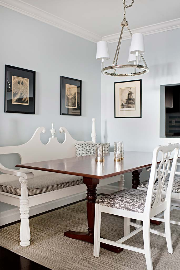 Wood dining table with traditional bench design and wood seating