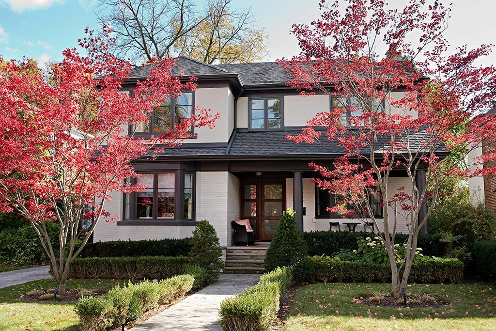 Exterior facade design details by Four Blocks South, residential interior design based in Toronto, Canada