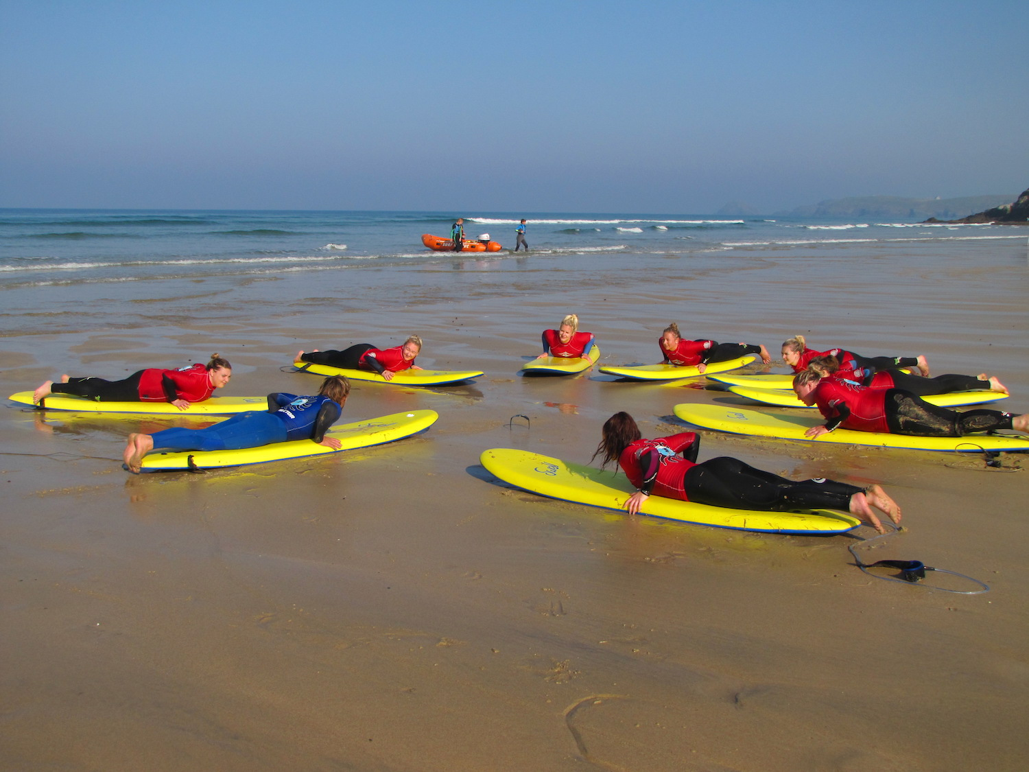 Safety briefing on our Surf and Yoga Retreats!