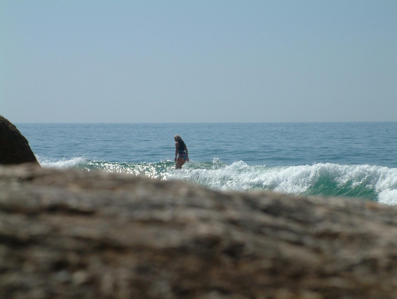Enjoying quieter waves…