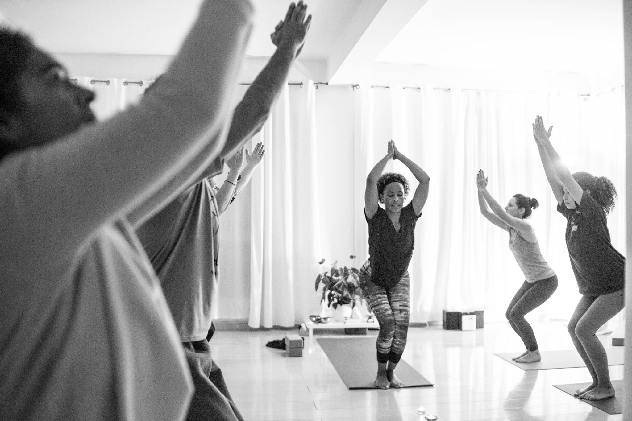 Group yoga sessions on retreats…