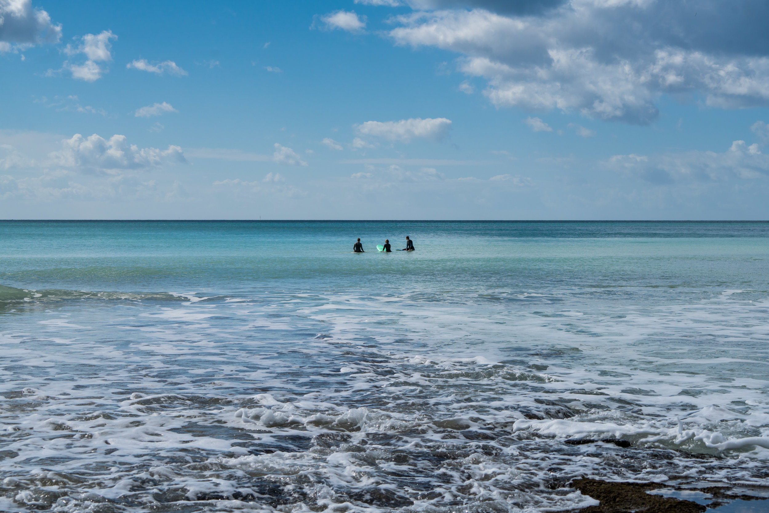 Our guests enjoying the beautiful ocean…