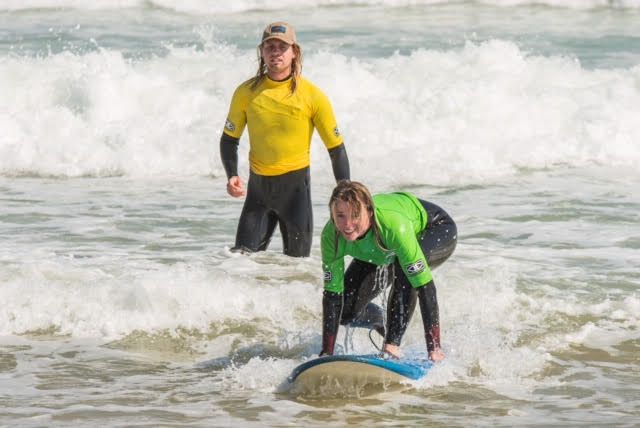 Excellent supportive tuition from professional surf instructors