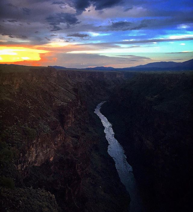 #tb Sunset at Rio Grande Gorge