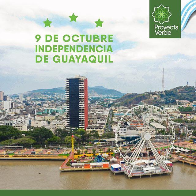 Hoy conmemoramos 199 años de Independencia de Guayaquil💙 Ciudad de personas honestas, trabajadoras y que aportan día a día para construir una ciudad más sostenible 🌳