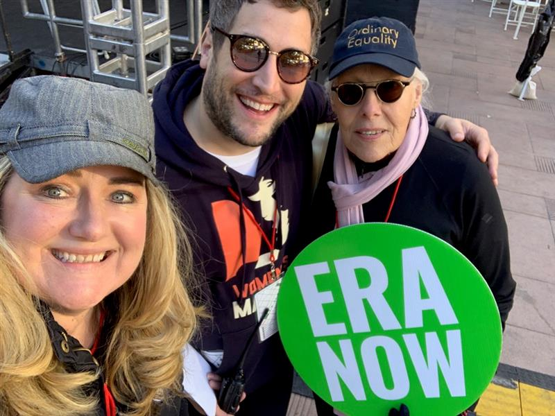 Heather, Dr. John, and Zoe Nicholson at Women's March LA 2019