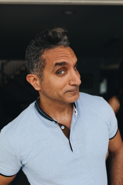 Bassem Youssef on set Plant B