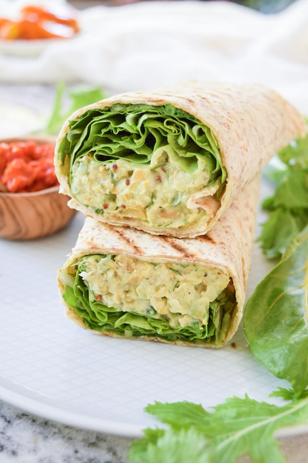Dinner 4 - Chickpea Avocado Wrap